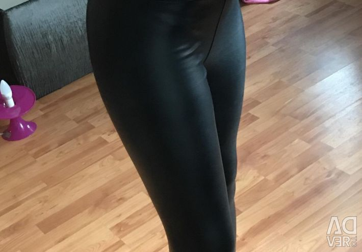 Leggings leggings leather under the skin with insulation