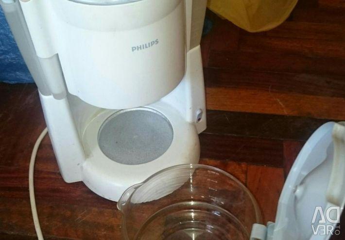 Aparatul de cafea aproape nou