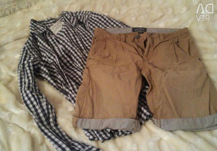 Σορτς για άνδρες και πουκάμισο GLORIA JEANS