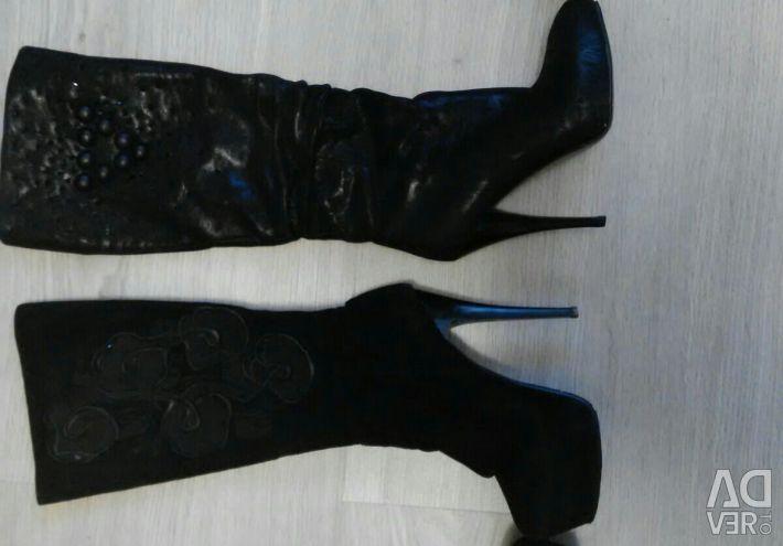 Δερμάτινες μπότες, σουέτ