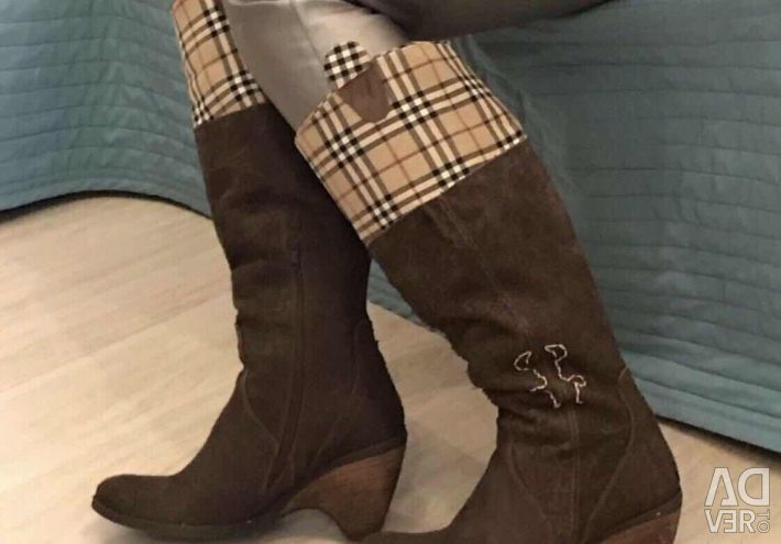 New Barbury boots nat leather Italy 38