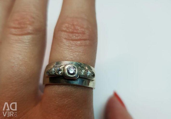 Amethyst ring. 925 sterling silver