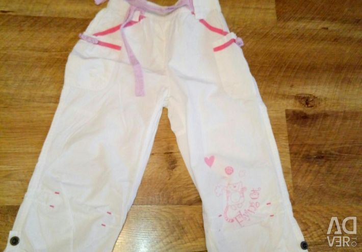 Light summer trousers for a girl.