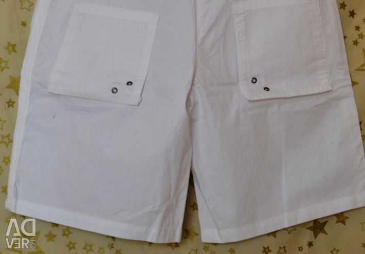 White new with tag shorts M brand