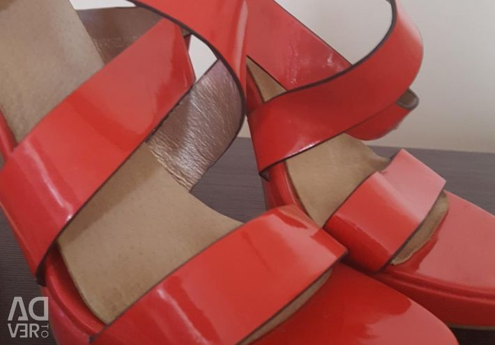 Beautiful coral sandals