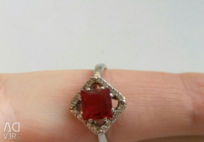 Silver ring with pomegranate p18