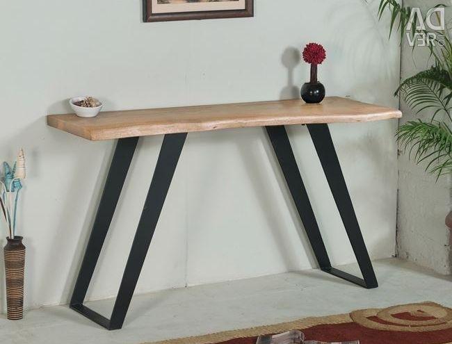 TABLE CONJOLE HM8172 FROM MASSIVE WOOD AKAKI NATURE