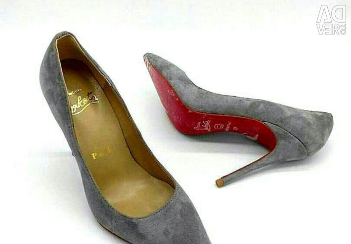 Shoes made of natural suede.