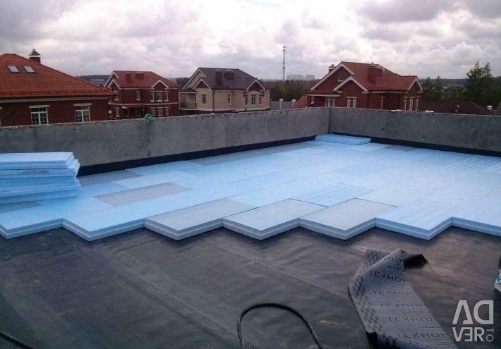 Acoperirea, instalarea de reparații ale acoperișurilor.
