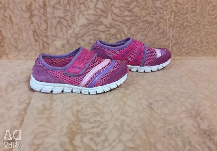 Pink-purple summer sneakers-mesh