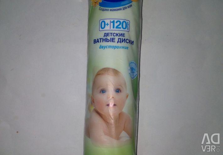 Σετ βαμβακιού για παιδιά και ηλιοθεραπεία 120pcs