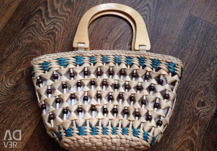 Wicker summer bag