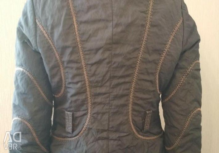 Куртка с мехом енота р 44