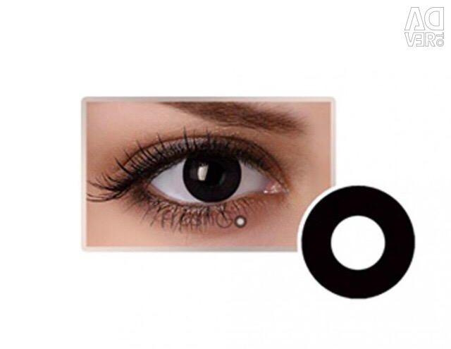 Kontakt lensler / siyah / yeşil / hedef lensler