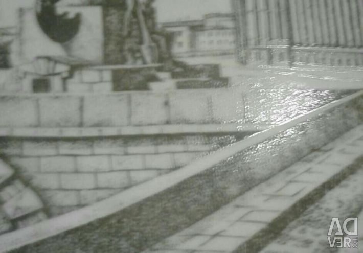 Винтажная настенная тарелка СССР (ЛФЗ)