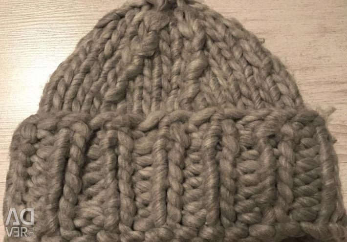 Шапка зимняя крупной вязки