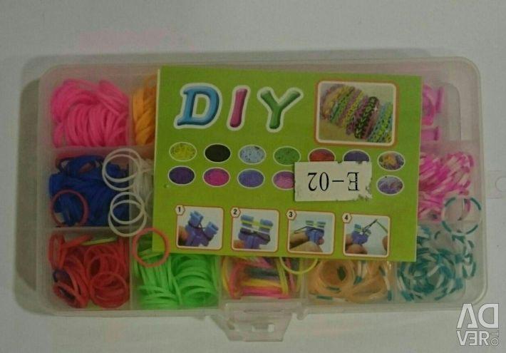 Loom Bands Mini Rubber Weaving Kit