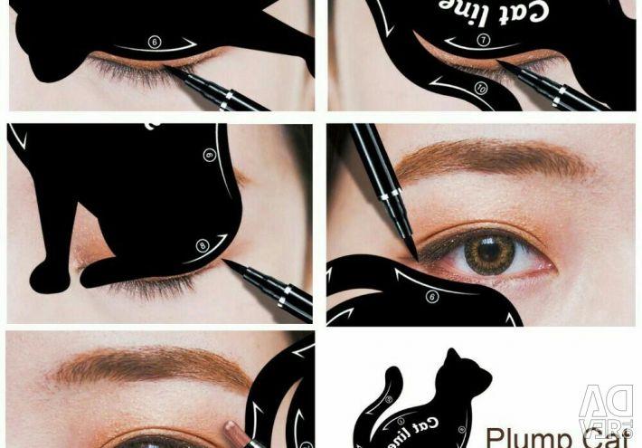 Stencil for eye makeup