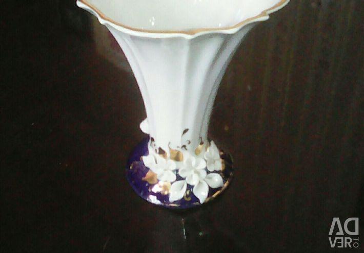 Handmade porcelain vase.