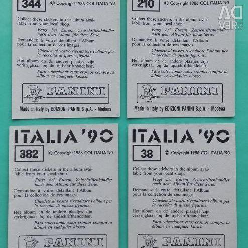 Наклейки Panini Чемпіонат Світу 1990 Емблеми Метал