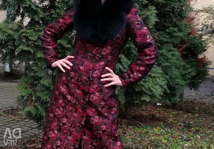 Пальто дизайнерское, эксклюзив, жаккард