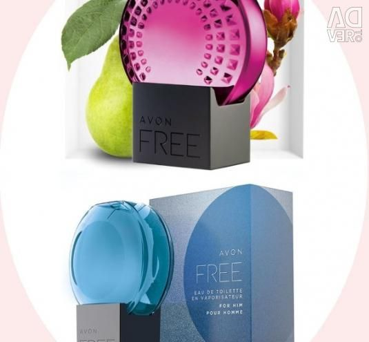 AVON Free water for him (75 ml) and for her (50 ml)