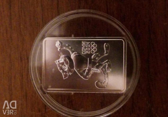 3 ruble argint Sochi 2014 Leopard