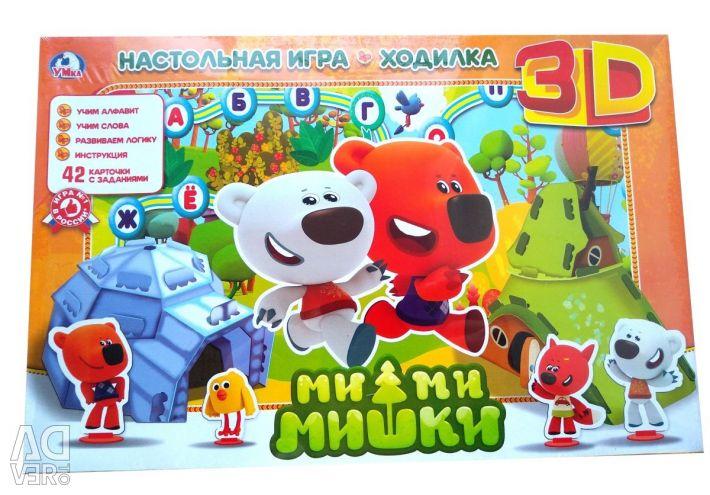 Board 3D game hodil Mi Mi Bears