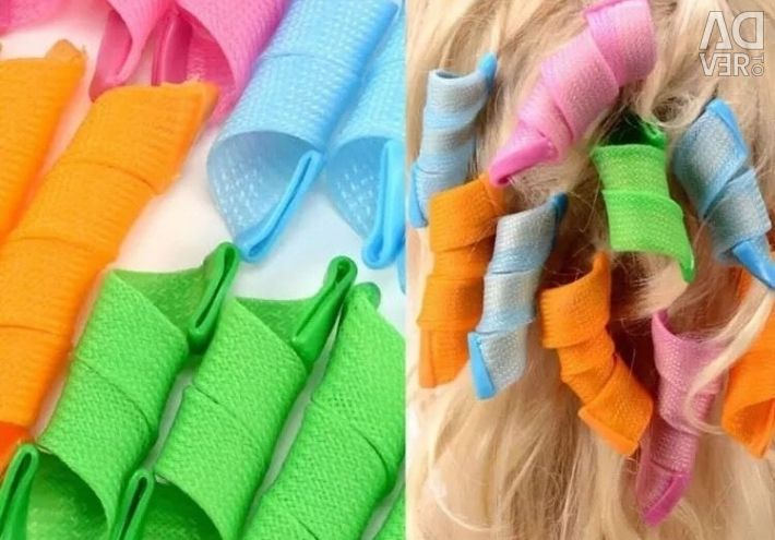 Magic Hair Curlers Rollers Styling Set Spiral Ring