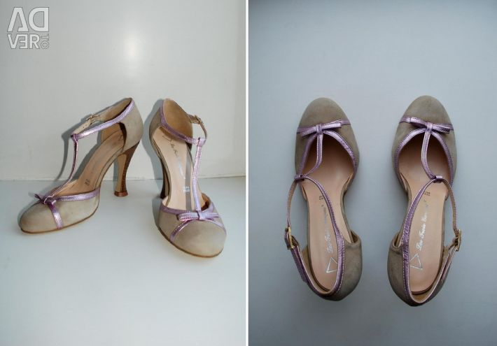 Leather, suede r. 38