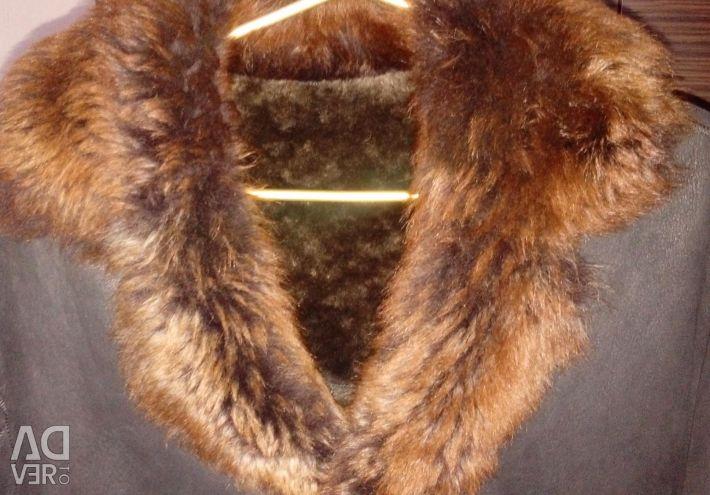 Sheepskin coat natural unisex