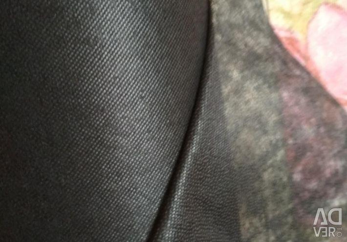 Flizelin punct adeziv negru, 90sm.100% p / e