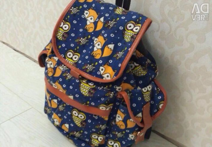 Backpack with owls