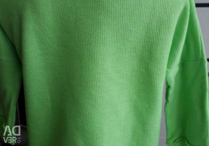 Bright beautiful sweatshirt sweatshirt with silver