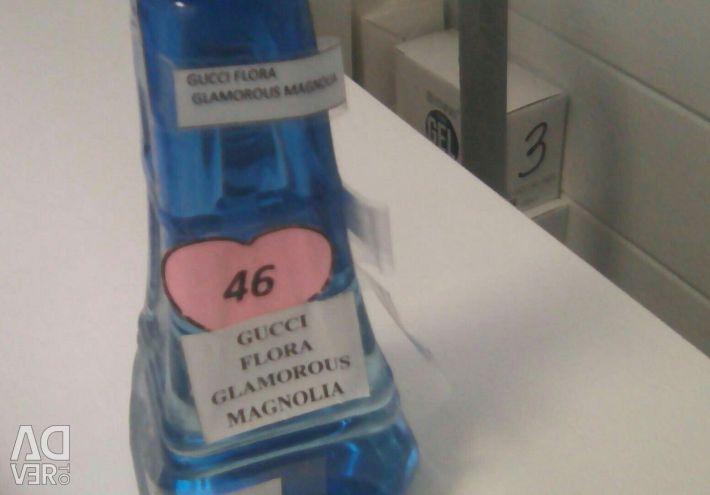 Filling perfume with pheromones.