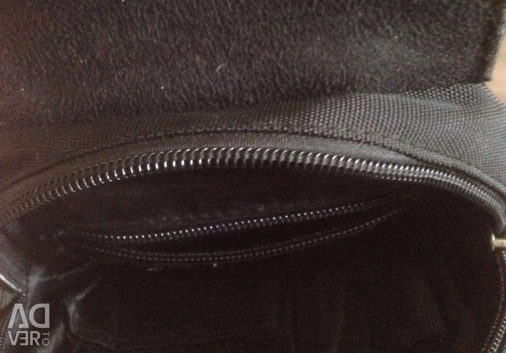 Erkek çantası, erkek çantası (deri + tekstil)