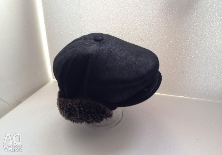 Sheepskin cap, winter natural fur