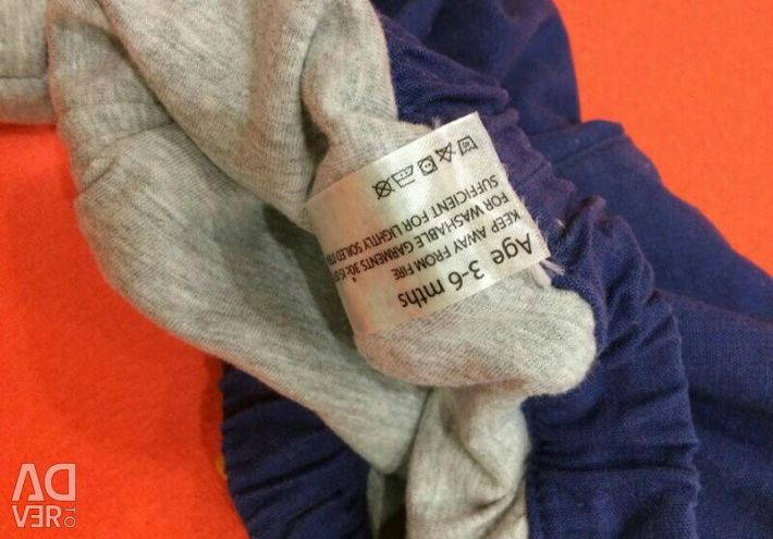 Denim branded clothing for babies