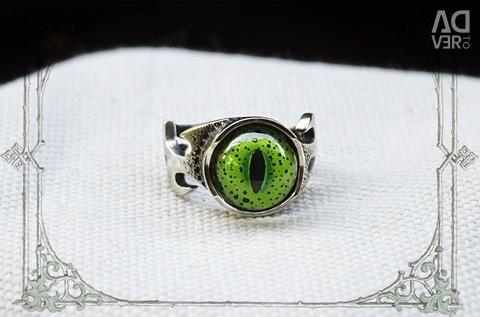 Δακτύλιος με το μάτι του κροκοδείλου του Νείλου
