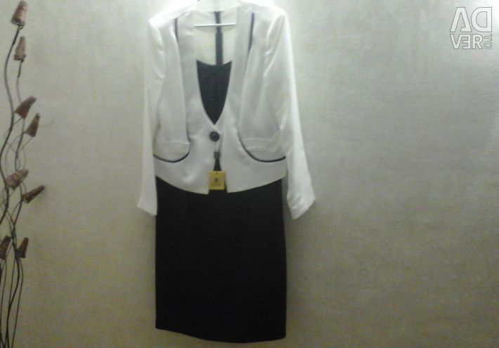 Dress - suit (dress + jacket) r. 56-58
