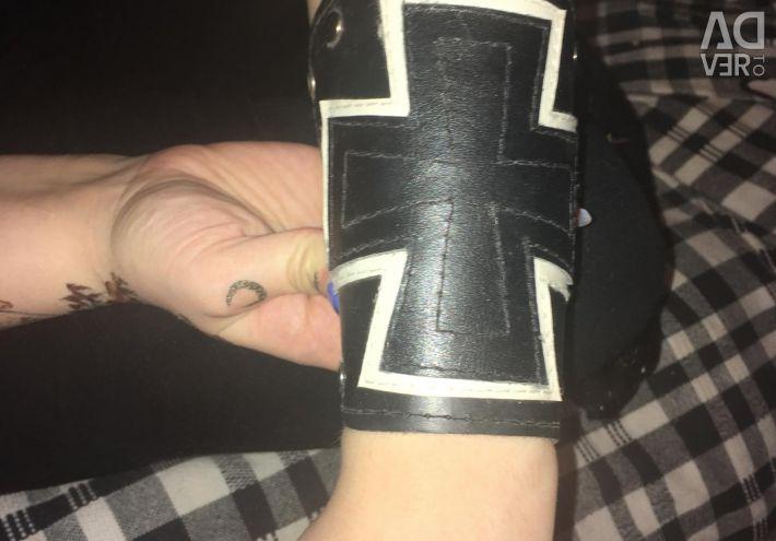 Wristband unisex leather