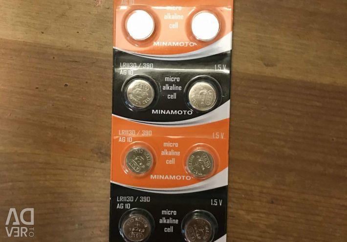Set of 8 batteries