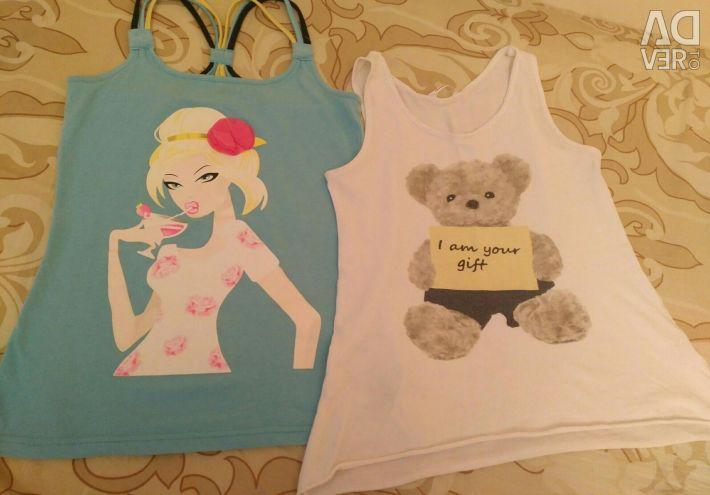 10-12 yaşlarındaki bir kız için tişörtler
