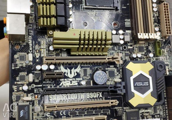 AM3 + Asus Sabertooth 990 FX 3 months warranty