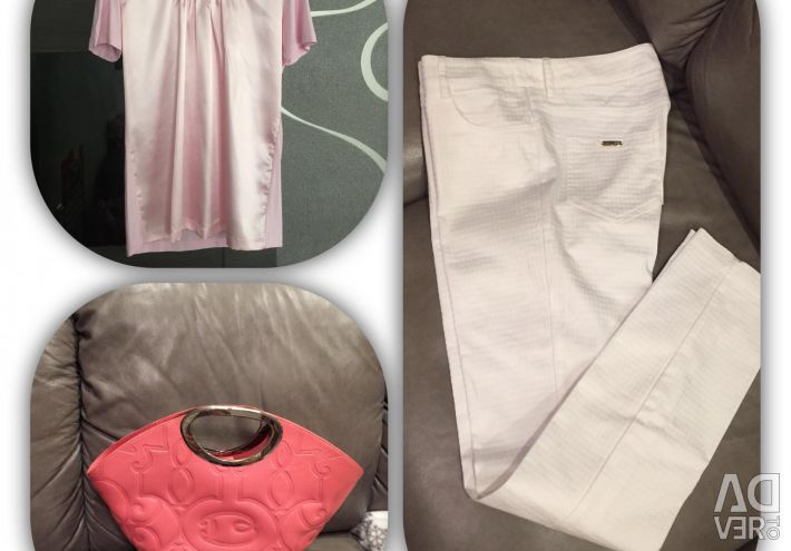 Spectacular T-shirt pants bag and jacket in tone