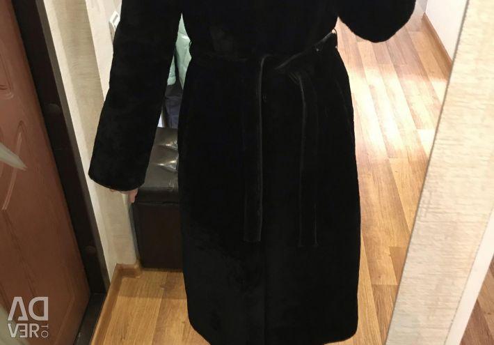 Muton fur coat