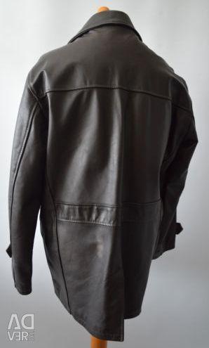 Mens Linea Real Leather Dark Brown (Large) Jacket
