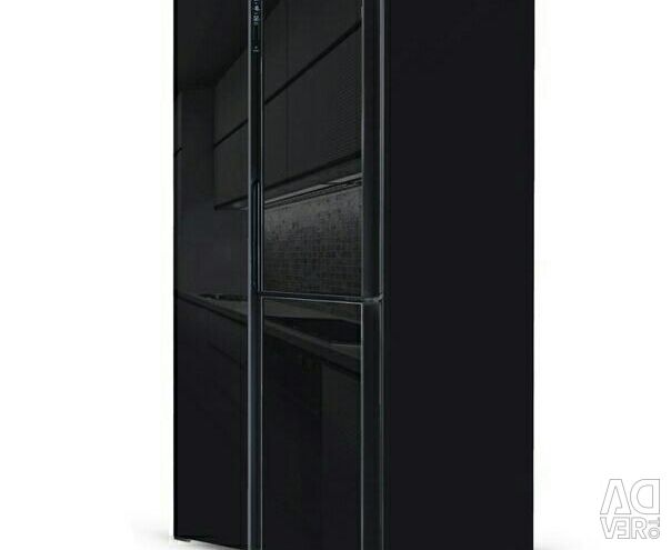 Refrigerator NFK-610 Black glass