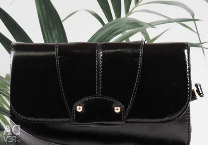 Black women bag, natural leather. New. Delivery.