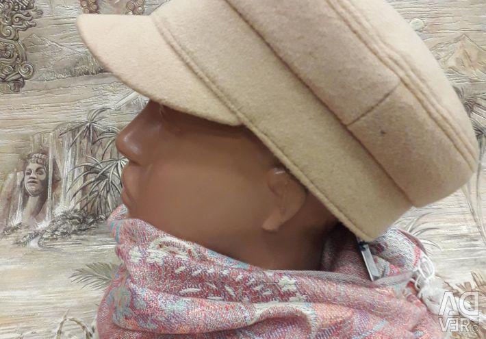 Картуз(кепка) Бежевый